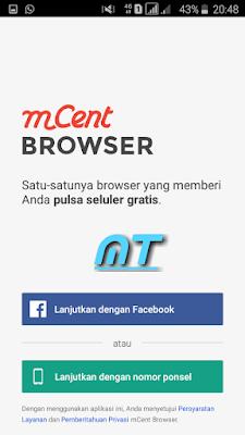 Cara menghasilkan pulsa lewat M-Cent browser