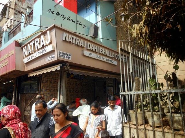 Natraj Dahi Bhalla joint, famous Chandni Chawk street food, Delhi