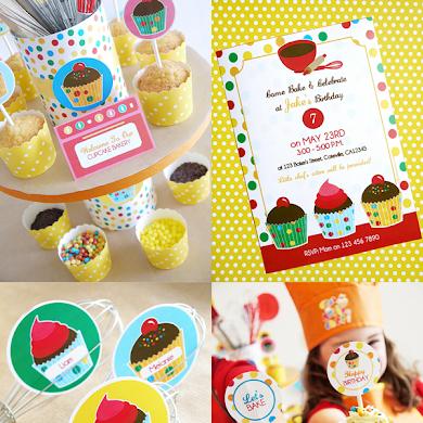 Anniversaire Atelier Cupcakes pour Garçons et Filles