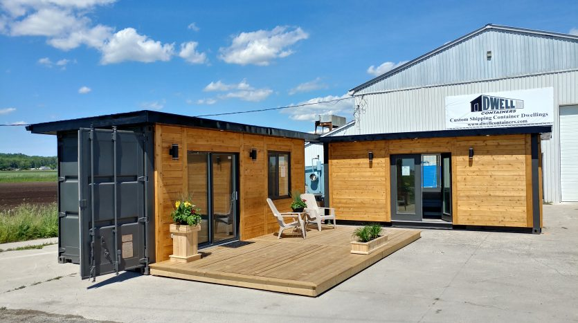 tiny house town shipping container office studio. Black Bedroom Furniture Sets. Home Design Ideas