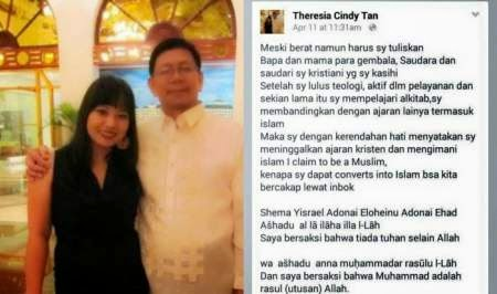 Mualaf Hoax Theresia Cindy Tan