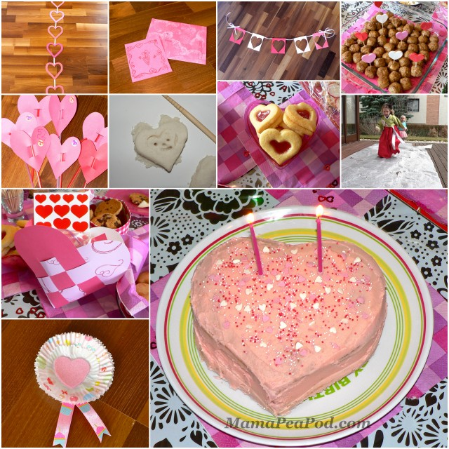 Mama Pea Pod: {Pink And Red Heart Theme Party!}