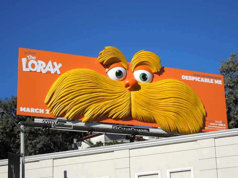The Lorax movie 3D billboard