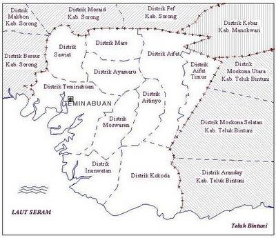 Daftar Nama Kecamatan Dan Desa Di Kabupaten Sorong Selatan Kumpulan Logo Lambang Indonesia