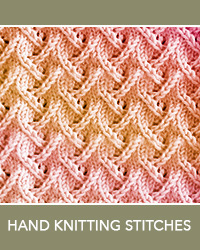 Learn Zig Zag Lace Pattern with our easy to follow instructions at HandKnittingStitches.com