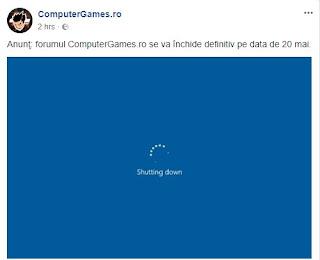 Forumul Computergames.rose închide
