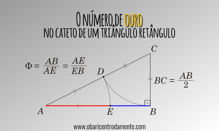 O número de ouro no cateto de um triângulo retângulo