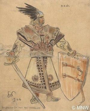 Ilustracja Bolesław Śmiały wykonana przez Wyspiańskiego