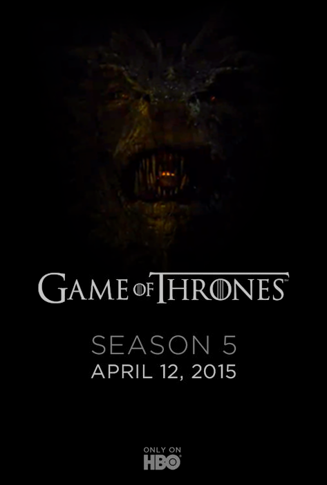Teaser Poster Game Of Thrones Season 5