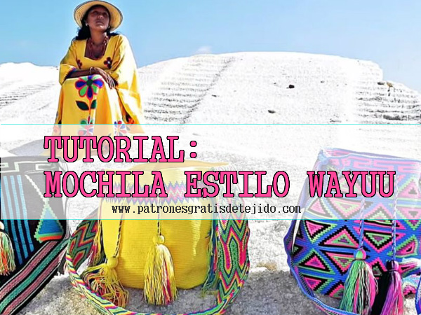 Cómo tejer una mochila estilo Wayuú paso a paso | Crochet y Dos ...