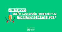 +90 cursos en linea de (Diseño, Ilustración, Animación y 3D) con más de 400 clases gratis