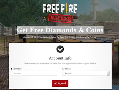 Firebeetle click - the latest free fire Hack Diamond and Coins