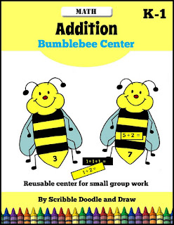 http://scribbledoodleanddraw.blogspot.ca/2016/04/addition-center-bumblebee-math.html