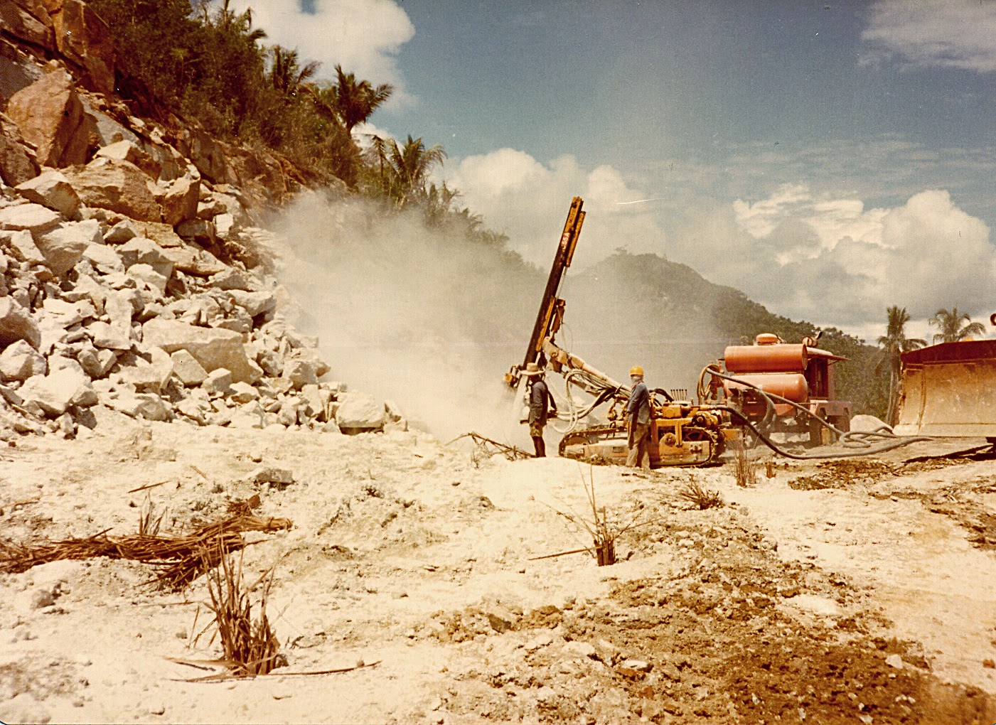 Ring road construction Bang Po 1982