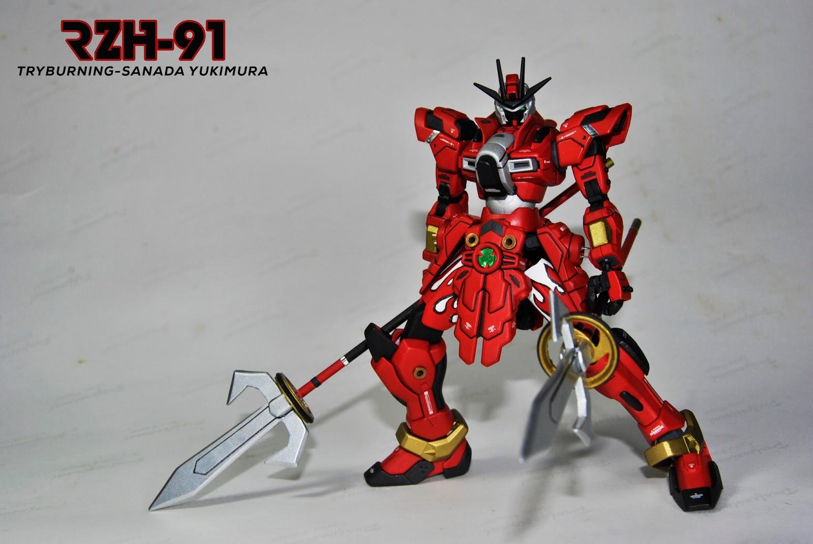 Custom Build Hgbf 1 144 Try Burning Gundam Sanada Yukimura Kits Used