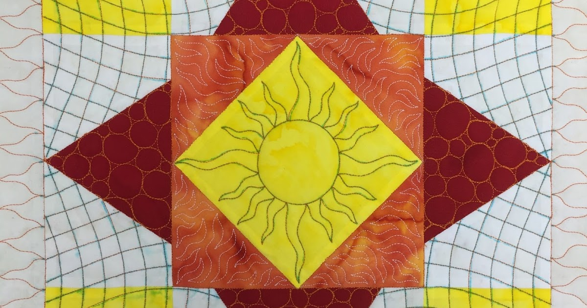 The Free Motion Quilting Project: Diamond in the Sky Block Pattern