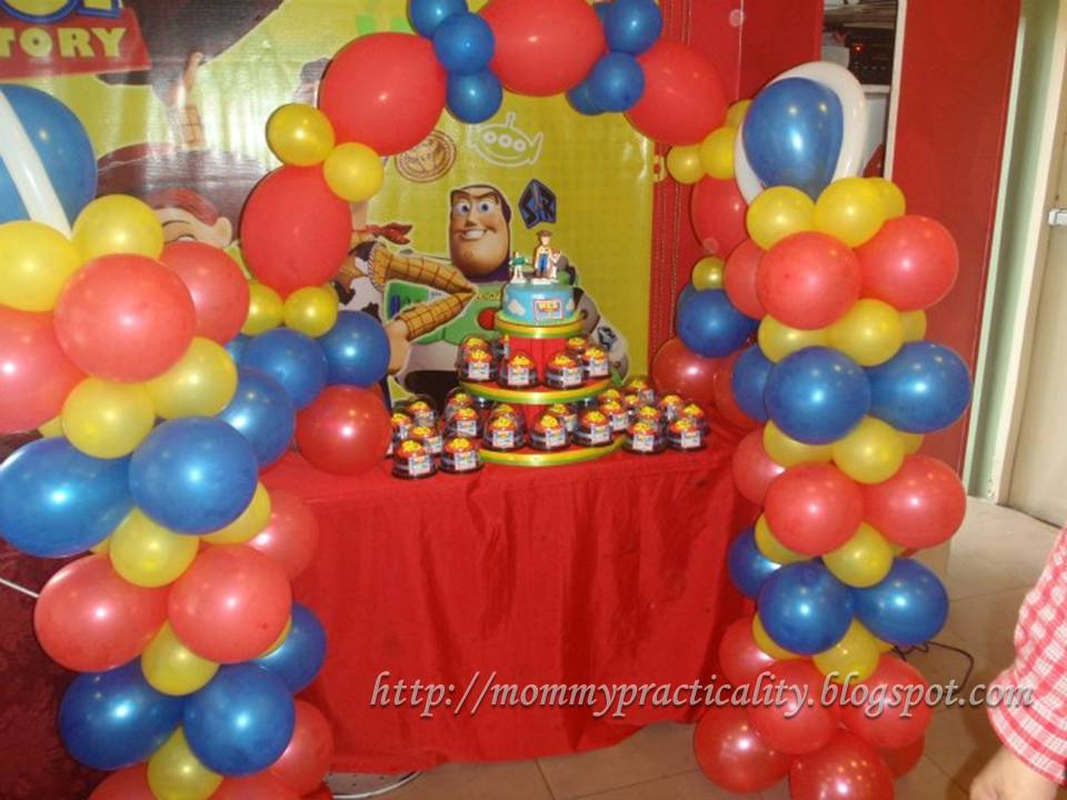 Balloon Pillars And Cake Arc By SIDs Party Favors