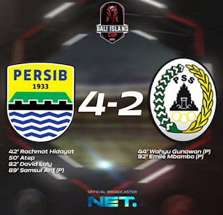 Persib vs PSS Sleman 4-2