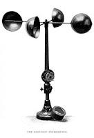 Anemometer cangkir hemispherical dari jenis yang ditemukan pada tahun 1846 oleh John Thomas Romney Robinson.
