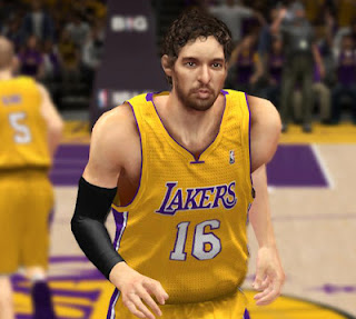 NBA 2K13 Pau Gasol Cyber Face Patches