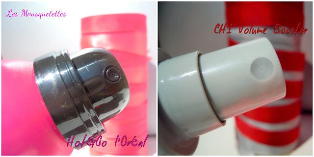 Diffusseur Hot&Go L'Oréal et Volume Booster CHI - Les Mousquetettes©
