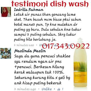 dish wash untuk cuci botol susu