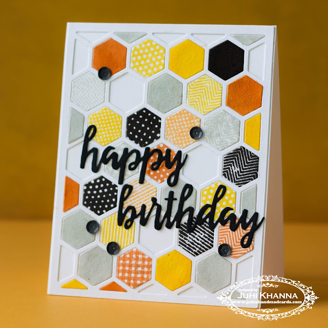 #papertreyink honeycomb die with inlaid die-cutting