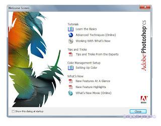 Welcome Screen Adobe Photoshop CS 8.0