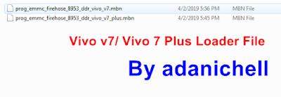 Vivo v7/ Vivo 7 Plus Loader File