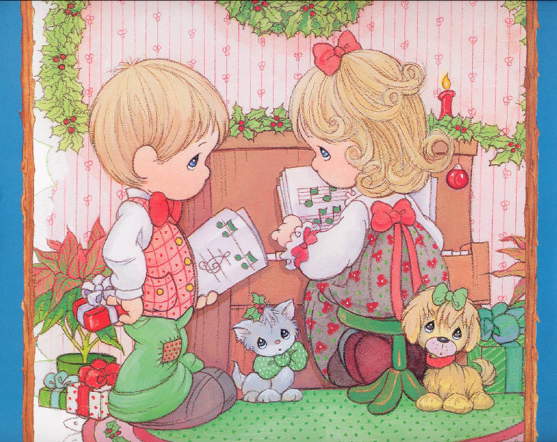 precious moments christmas wallpaper background - photo #13