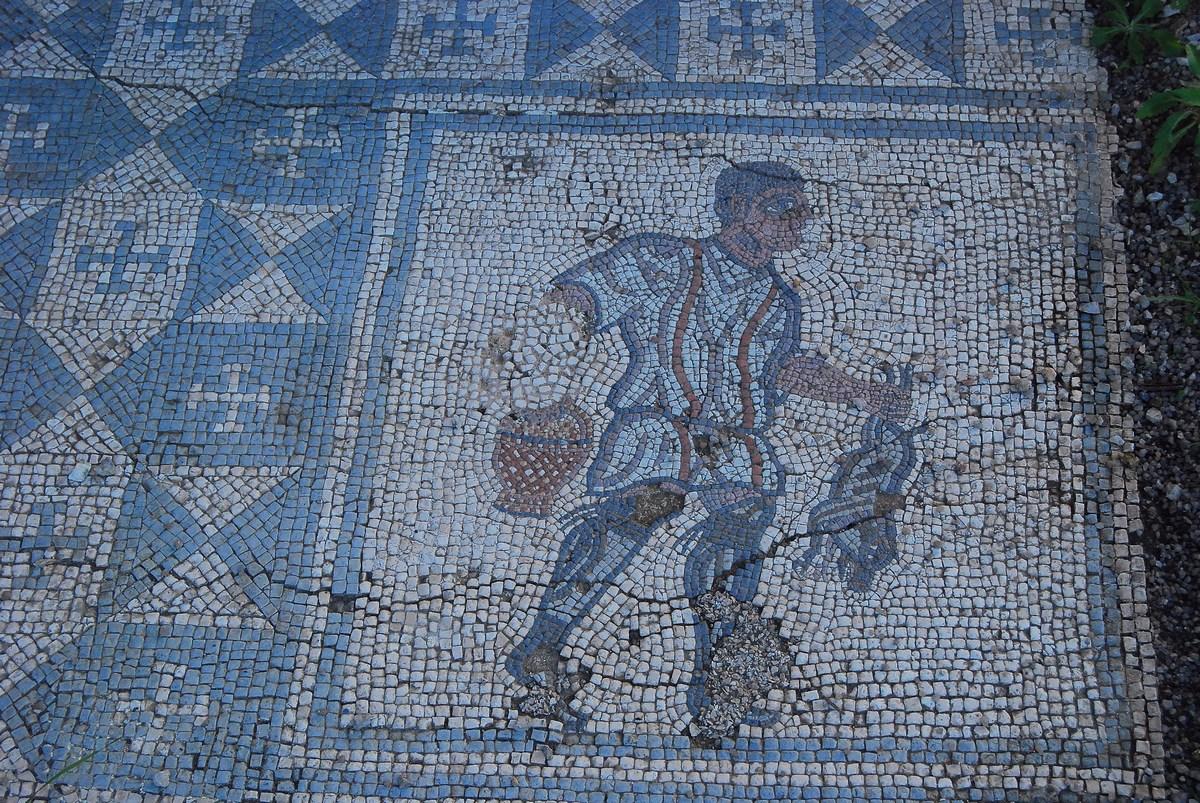 une des très nombreuses mosaïques de la « maison des Fontaines » Conimbriga
