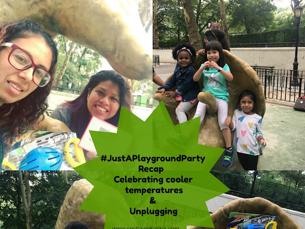 #JustAPlaygroundParty Recap - Celebrating Cooler Temperature & Unplugging