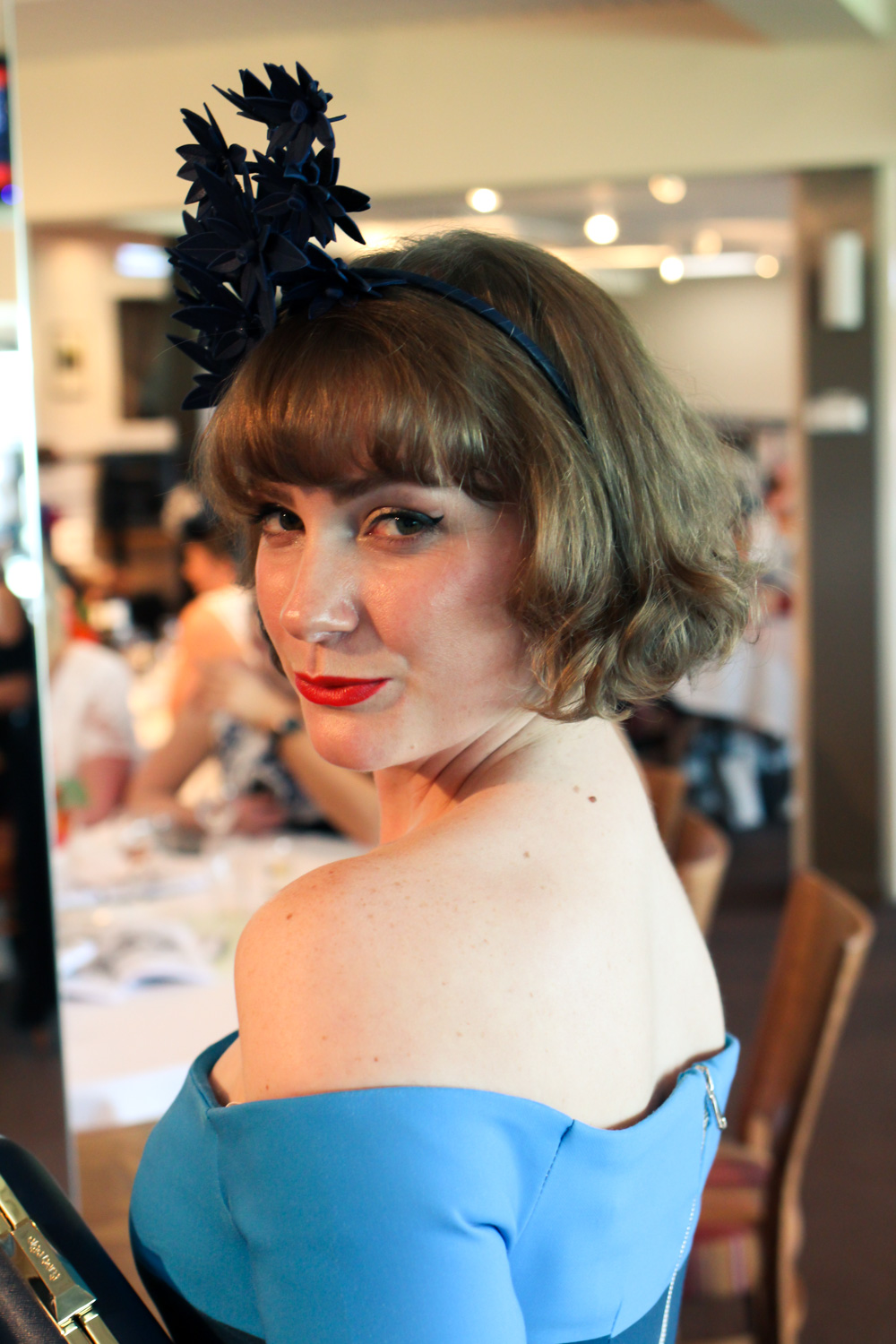 @findingfemme in By Johnny, Olga Berg and Allport Millinery at Bendigo Fashion Festival racewear luncheon