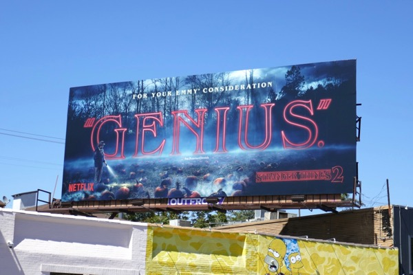 Stranger Things 2 Genius Emmy consideration billboard