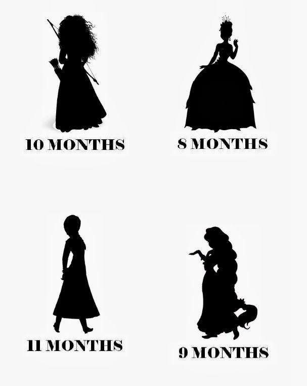 Disney Princess Monthly Onesies