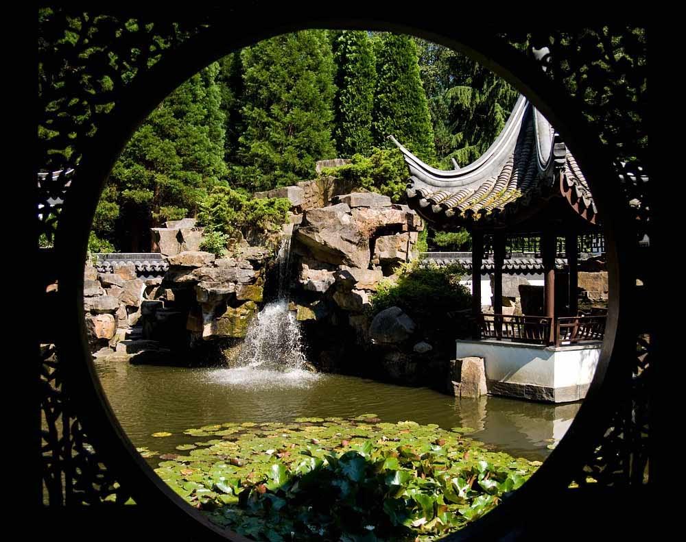 chinese garden wallpaper in hd - photo #14