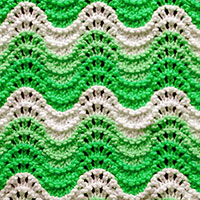 Old Shale - easy stitch pattern. The instructions are written to work this pattern in the round.