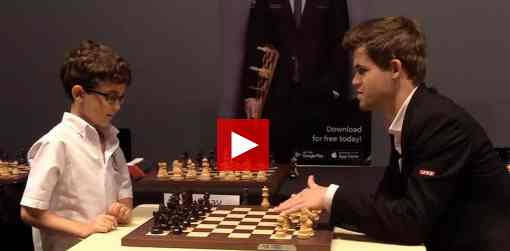 Magnus Carlsen face à Jed Sloan - Photo © site officiel