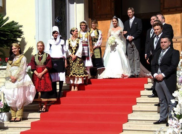 Prince Leka Zogu of Albania got married with singer Elia Zaharia in capital city Tiran, wedding ceremony wedding dresses wedding diamond tiara