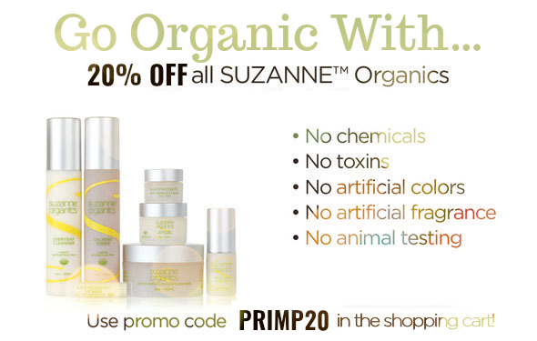 20 percent off Suzanne Organics by barbies beauty bits and beauty over forty