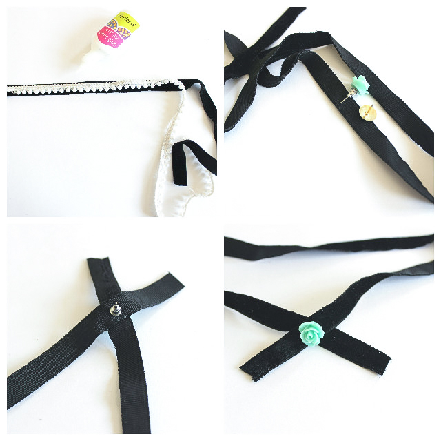 DIY Bow Collar Choker