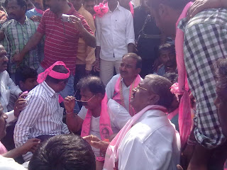 TRS & BJP Dharna at Jammikunta on 29th December 3