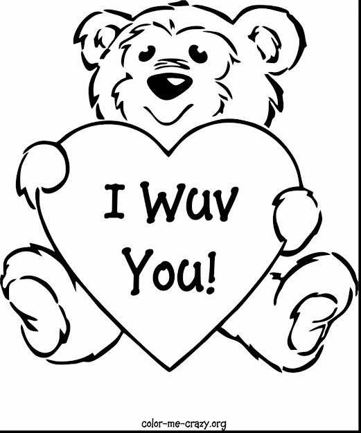 Fabulous Valentines Day Coloring Pages With Love You Coloring Pages And  Love You Mom