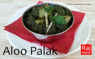 Aloo Palak: Kartoffeln in jungem Spinat (vegan möglich)
