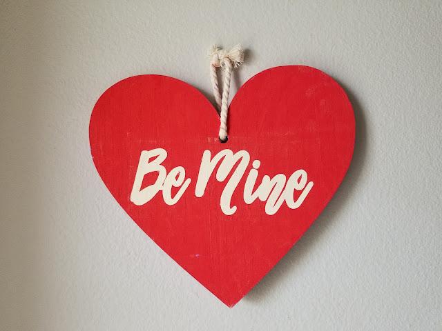 DIY Valentine heart craft with vinyl stencil