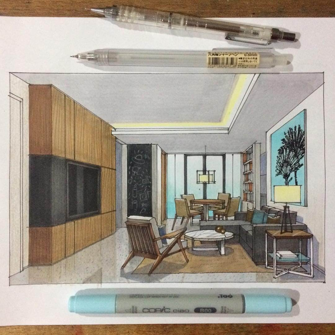 03-Living-Room-Yandi-Prayudhi-Interior-Design-and-Travel-Drawings-www-designstack-co