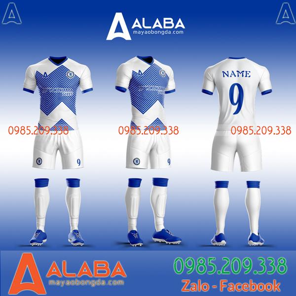 Áo CLB Chelsea mã ALB CH08 màu trắng đẹp