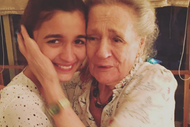 ALIA BHATT GETS ENTHUSIASTIC AFTER CUTE BIRTHDAY MESSAGE FROM HER GRANDPARENTS  - BOLLYWOOD NEWS