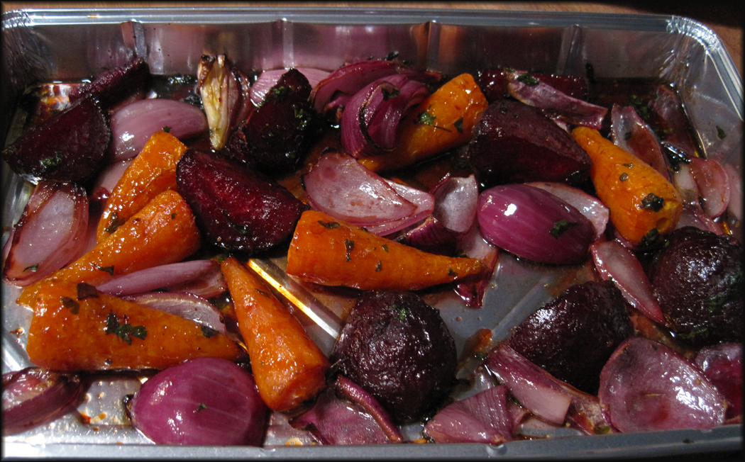 Balsamic Glazed Beetroot and Carrots