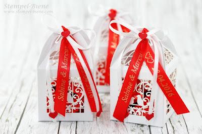 Hochzeitsgastgeschenke; Gastgeschenk Vogelkäfig; Schokoladenherzen Hochzeit; Hochzeitspapeterie